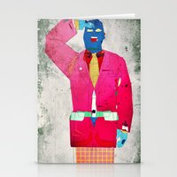 suit Stationery Cards featuring Suit Salute by Alec Goss