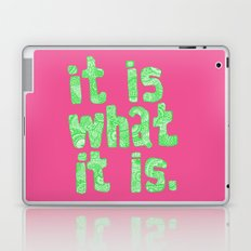 What It Is Pink Laptop & iPad Skin