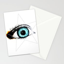 Looking In #3 - Original sketch to digital art Stationery Cards