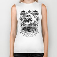 anarchy Biker Tanks featuring Anarchy scream by Tshirt-Factory