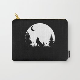 Wolf Forest Wilderness Nature Moon Gift Carry-All Pouch