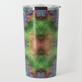 Psychedelic Fractal Kaleidoscope Travel Mug