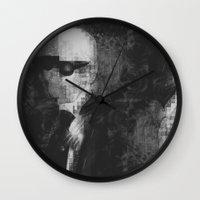 karl lagerfeld Wall Clocks featuring Karl Lagerfeld Star Futurism Limited by Futurism_