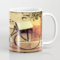 bicycle Mugs featuring Bicycle by Indigo Rayz