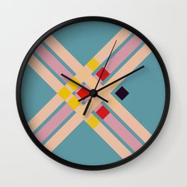 Mullo - Colorful Decorative Abstract Art Pattern Wall Clock