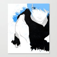 kuroko Canvas Prints featuring Phantom Kuroko by Kellie Anne