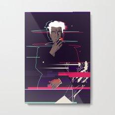 David Lynch - Glitch art Metal Print