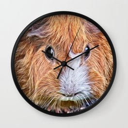 Painted Guinea Pig 5 Wall Clock