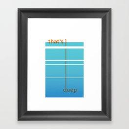 Dude, woah... Framed Art Print
