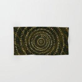 Elder Futhark Spiral Art Hand & Bath Towel