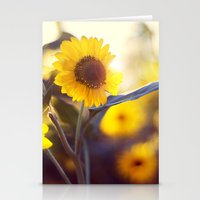 sunflowers Stationery Cards featuring Sunflowers by elle moss