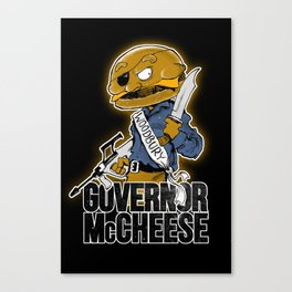 Governor McCheese Canvas Print