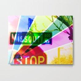 Multi-Colored Missouri Metal Print