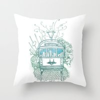 melbourne Throw Pillows featuring Melbourne by Raul Garderes