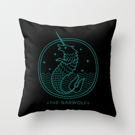 The Narwolf Throw Pillow
