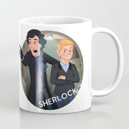 Sherlock Holmes and Watson cartoon Coffee Mug