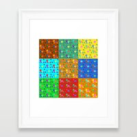 turtles Framed Art Prints featuring turtles by vitamin