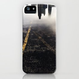Reflection of Chicago in a Puddle iPhone Case