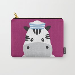 Sailing Zebra Carry-All Pouch