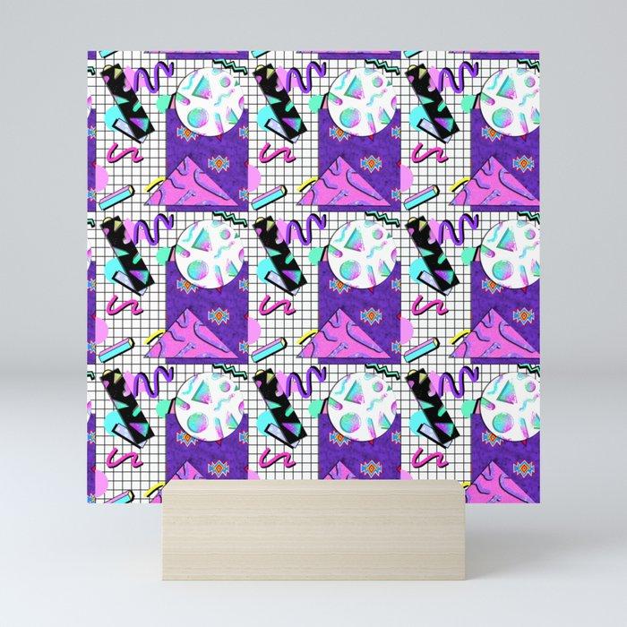 Trapper Keeper 80s Crazy Grid Design Mini Art Print