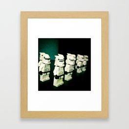 Lined Up Framed Art Print