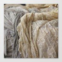 lace Canvas Prints featuring Lace by Jillian Audrey
