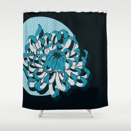 flow_c Shower Curtain