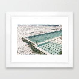 Bondi Icebergs Pool Framed Art Print