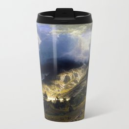 A Storm In The Rocky Mountains Metal Travel Mug