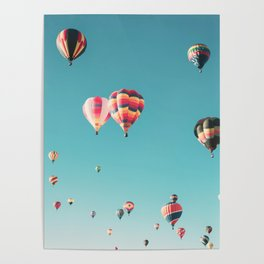 Hot Air Balloon Ride Poster