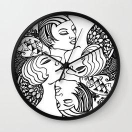 Lady Mandala Wall Clock