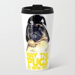 May The Pugs Be With You T-Shirt Travel Mug