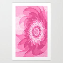 Fuchsia pink fractal flower Art Print