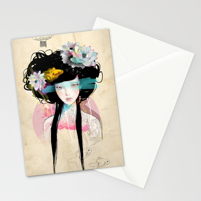 Nenufar Girl Stationery Cards