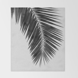 Palm Leaf Black & White I Throw Blanket
