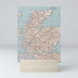 Vintage Map of Scotland (1943) Mini Art Print
