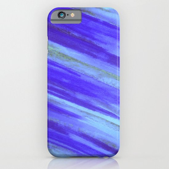 WASHED UP - Bold Blue Stripes Abstract Watercolor Painting Colorful Fun Surfer Ocean Waves iPhone & iPod Case