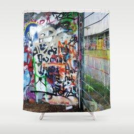 Mauerpark Graffiti Artwork Berlin Shower Curtain