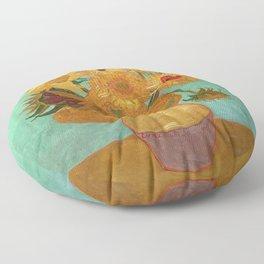 Vincent Van Gogh Twelve Sunflowers In A Vase Floor Pillow