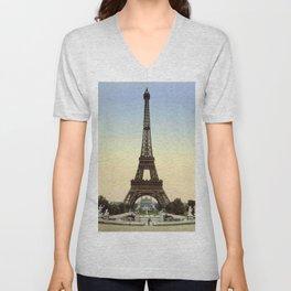 Eiffel tower 1- in 1900 Unisex V-Neck
