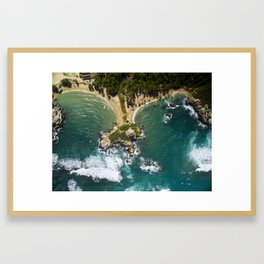 Parque Tayrona from Above Framed Art Print