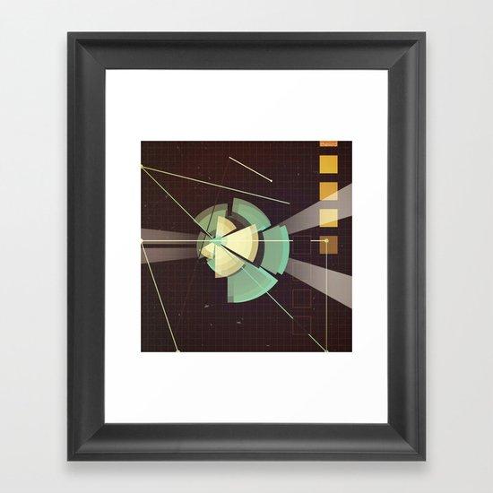 Digital Space Station Framed Art Print