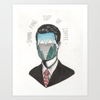 dale cooper Art Prints featuring Agent Dale Cooper by Ryan M Whiteley