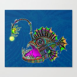 Electric Angler Fish Canvas Print