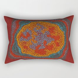 Growing - Lamium - plant cell embroidery Rectangular Pillow