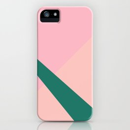 Colorful geometric design iPhone Case