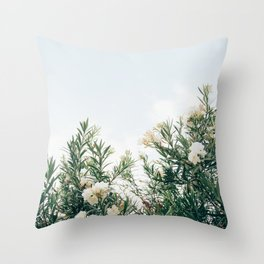 Neutral Spring Tones Throw Pillow