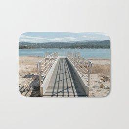 A pier at Big Bear Lake in California Bath Mat