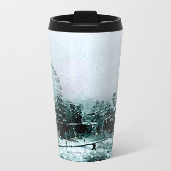 Cold Forest Playground Metal Travel Mug