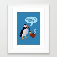 puffin Framed Art Prints featuring puffin' by Christopher